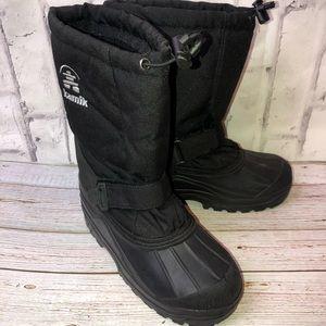 Kamik black snow rain boots. Women size 9